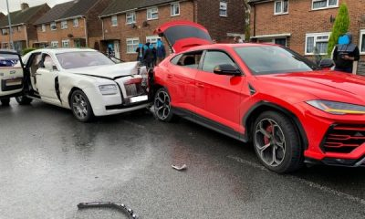 Expensive crash, driver of Rolls-Royce Ghost sedan flees after crashing into two cars, including red Lamborghini Urus SUV-autojosh