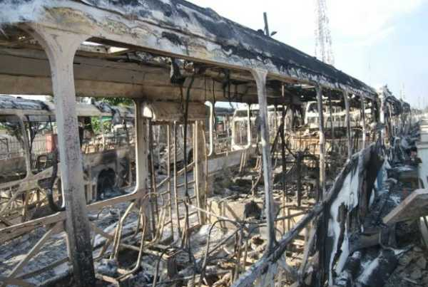 LASG says hoodlums burnt 80 BRT buses worth ₦3.9bn following violence that trailed the #EndSARS protests-autojosh