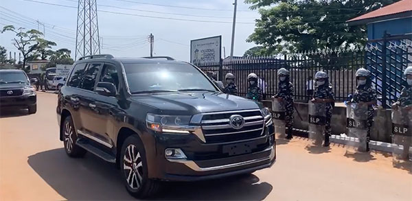 Fatima Bio, Sierra Leone's First Lady Arrives Event Behind The Wheels Of A Toyota Land Cruiser