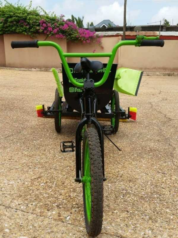 ghanaian invents sweeping bicycle-autojosh