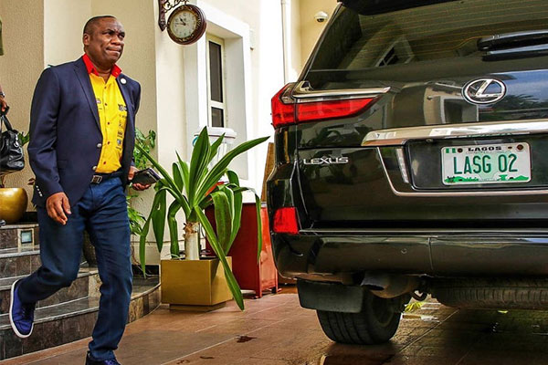 Check Out The Bulletproof Lexus LX 570 Lagos Deputy Governor, Obafemi Hamzat Cruises For Official Duties