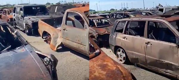 Video Of Nigeria Bound Cars That Got Burnt On Hoegh Xiamen Vessel Emerge