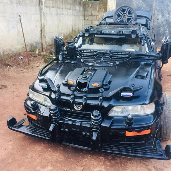 Nigerian Man Modifies Honda Legend To Look Like A Batmobile