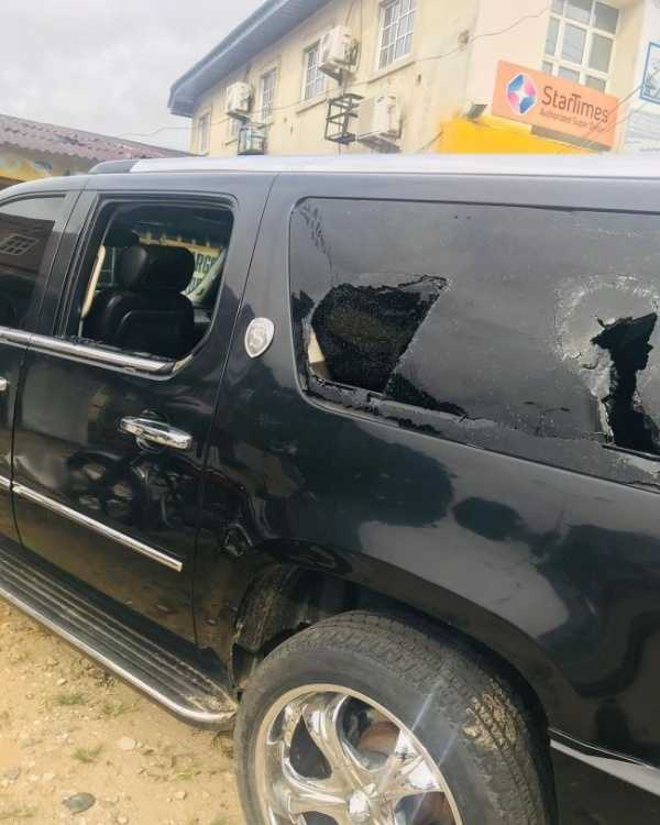 Nollywood actor Clem Ohameze attacked in Uyo, his Cadillac Escalade damaged-autojosh