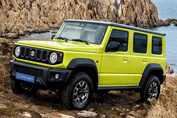 5-Door Suzuki Jimny Is In The Works And There's A Rendering
