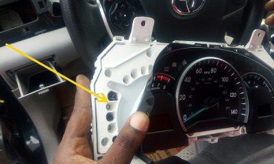 dashboard lights blocked