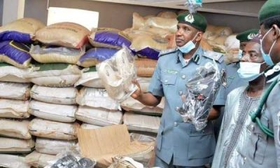 Nigeria Customs Service Federal Operation Unit Zone B Kaduna parades seized smuggled items-autojosh