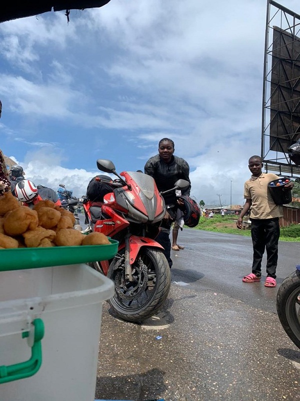 nigerian female biker
