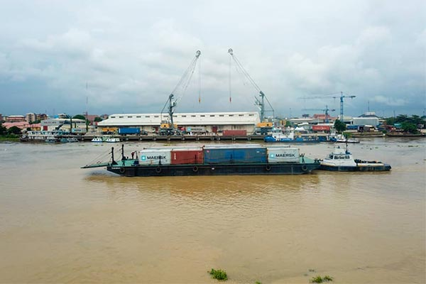 NIWA Conducts Test Run Of Moving Containers From Onne Port To Onitsha Port After 42 Of Years Of Construction (PHOTOS)