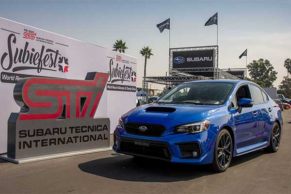 Subaru Set Guinness World Record For Longest Parade Vehicles