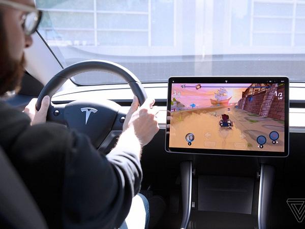 tesla games steering