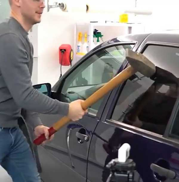 Tests from Carhax shows VW Golf glass is stronger than the unbreakable glass on the Tesla Cybertruck-autojosh