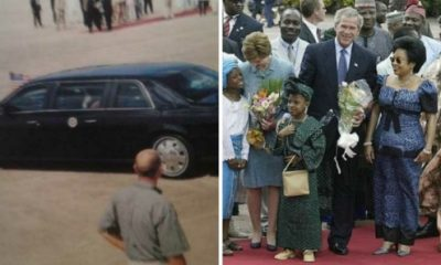 Throwback 2003 : US President George W Bush Rolls Armoured Cadillac DeVille Limo Into Nigeria - autojosh