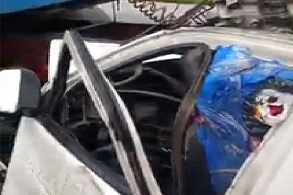 Bus Driver Conveying Pastor David Ibiyeomie's Book Escaped Death As Bus Collided With Truck, Rendering It Unrecognizable (PHOTOS/VIDEO)