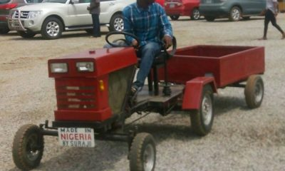Meet Ismaila Surajo, A Young Nigerian Who Builds Locally Made Tractors, Excavators - autojosh