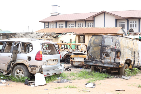 LASTMA GM Visits Vandalized Regional Offices