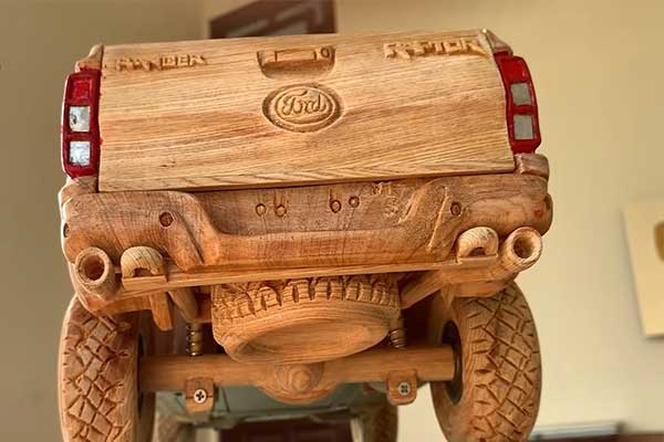 Check Out This Ford Ranger Raptor Carved In Wood