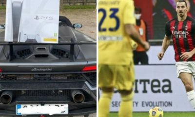 AC Milan Striker Castillejo Gets PS5 Xmas Gift From Zlatan Ibrahimovic, Flaunts It On His Lamborghini - autojosh