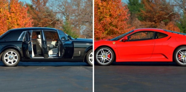 Outgoing US President Donald Trump's Ferrari F430 And Rolls-Royce Phantom Are Up For Sale - autojosh
