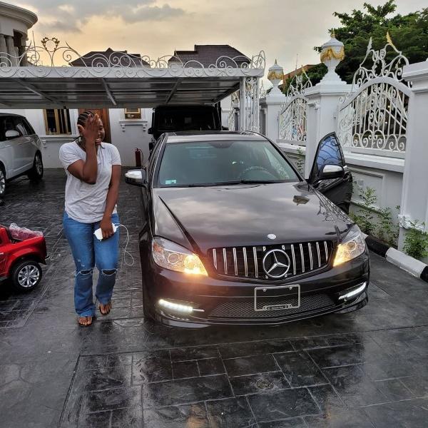 Ehi Ogbebor gifts her trusted Pa Bella Mercedes