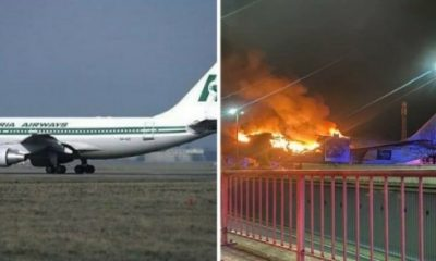Former Nigeria Airways Aircraft, Seized In Belgium Due To Unpaid Fees, Has Burnt Down - autojosh
