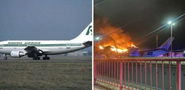 Former Nigeria Airways Aircraft, Seized In Belgium Due To Unpaid Fees, Has Burnt Down - autojosh