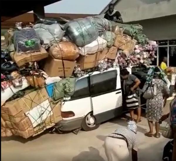 Overloaded Toyota Previa