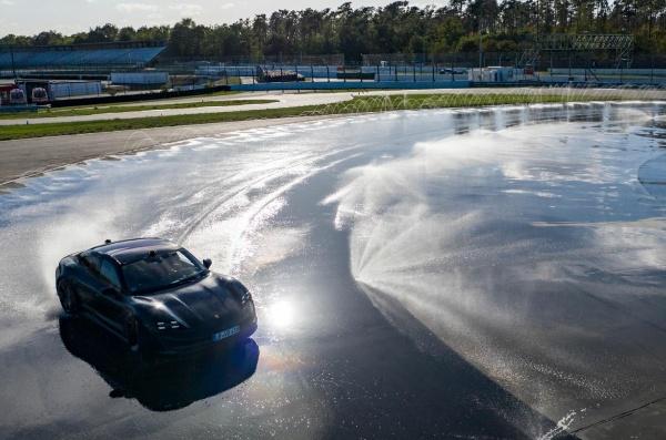 Porsche Taycan Slides For 55 Mins To Break Record For Longest Electric Car Drift - Autojosh