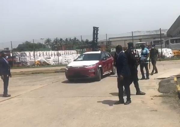 Hyundai Kona : Moment Gov. Sanwo-Olu Test Drives First Electric Car In Nigeria _ AutoJosh