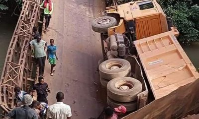 Adani Bridge In Enugu Collapses As Fully-loaded Truck Tries To Cross It - AutoJosh