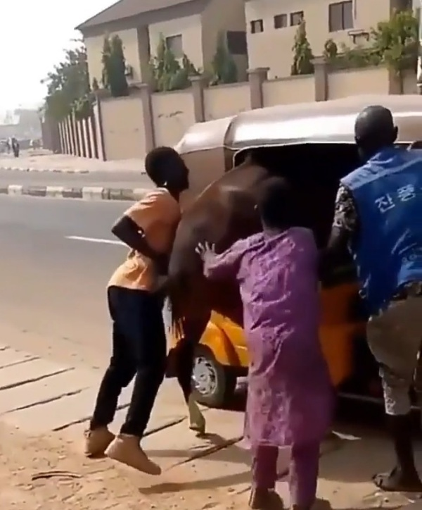 Watch As Young Men Tries To Transport A Horse With Tricycle - autojosh
