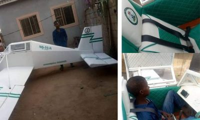 Maths Graduate From Adamawa Shows Off His Replica Mini Plane Built From Scrap Materials - autojosh