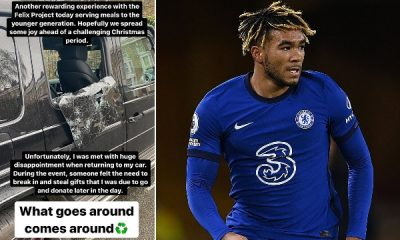 Chelsea Star Reece James Shares Picture Of His Damaged Mercedes G-wagon After Thieves Stole Gifts Meant For Charity - autojosh