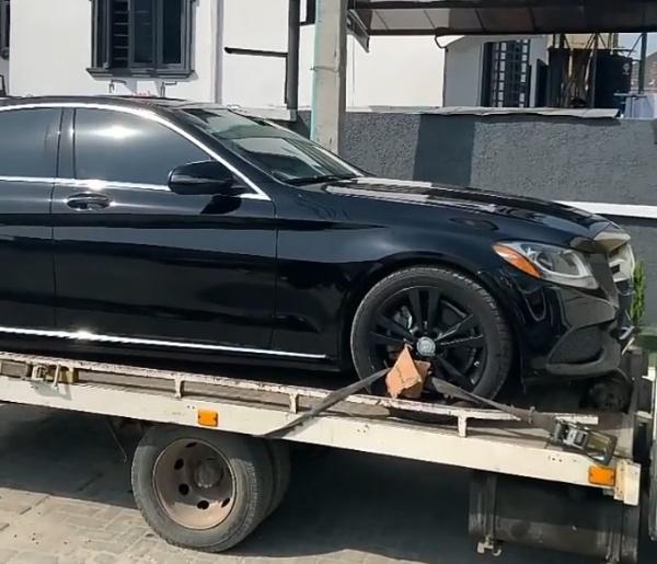 Nigerian Recording Artist L.A.X Takes Delivery Of Toyota Prado And Mercedes C-Class - autojosh