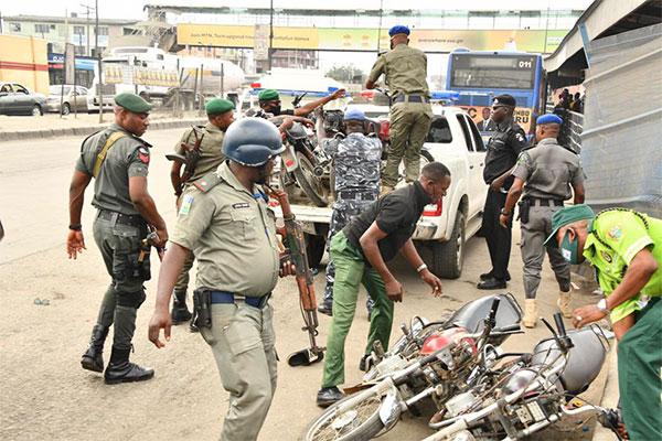 Lagos Set Up Special Task Force Against One-Way Driving, Dozens Of Okadas Seized - autojosh