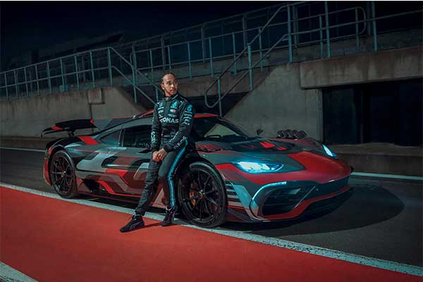 Lewis Hamilton Cruises A Mercedes-AMG One After Work