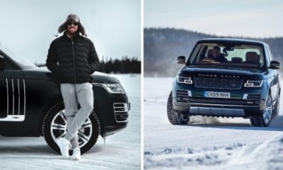 Boxing Champ Anthony Joshua Shows Off Ice-driving Skills In Range Rover To Celebrate Victory Over Kubrat Pulev - autojosh