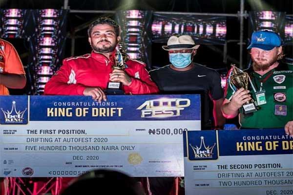 "Antonio Sandouk Crowned BETKING ""King Of Drift"" At Lagos Autofest"