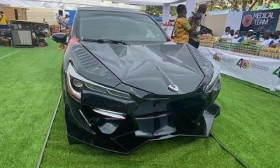 Kantanka Akofena : Ghanaian Automaker Unveils Lamborghini-inspired Sports Car With Gullwing Doors - autojosh
