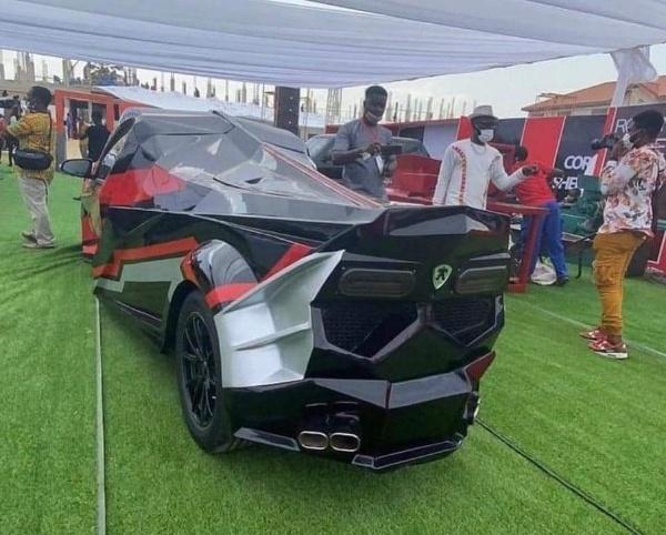 Kantanka Akofena : Ghanaian Automaker Unveils Lamborghini-inspired Sports Car With Gullwing Doors - autojosh