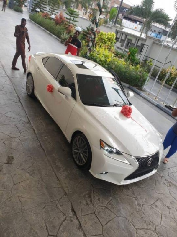 Korede Bello Presents Lexus IS Worth N15m To His Manager As Birthday Gift - autojosh