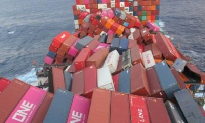 Ship Lost 1,816 Cargo Containers After Being Caught Up In Violent Storm In The Pacific Ocean - autojosh