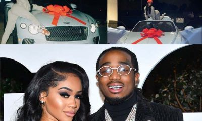 American Rapper Quavo Gifts His Girlfriend Saweetie Bentley For Christmas (Videos)-autojosh