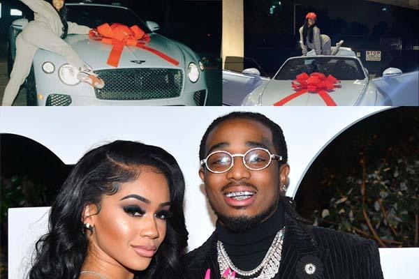 American Rapper Quavo Gifts His Girlfriend Saweetie Bentley For Christmas (Videos)-autojosh
