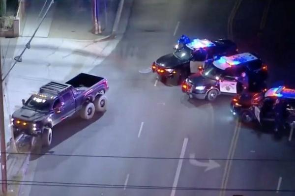 Thief Crashes DJ Marshmello's Stolen $350k SMCO 6×6 Super Truck After A Hot Police Chase - autojosh