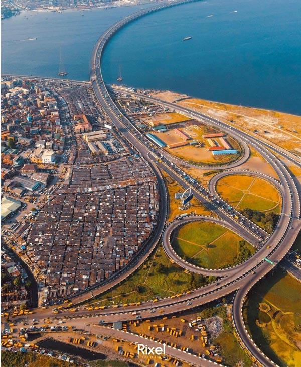 Aerial Photo Of Third Mainland Bridge