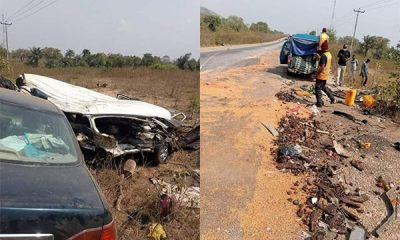Road Accident Involving A Car, Cement Truck And Commercial Bus, Claims 14 Lives In Kogi - autojosh