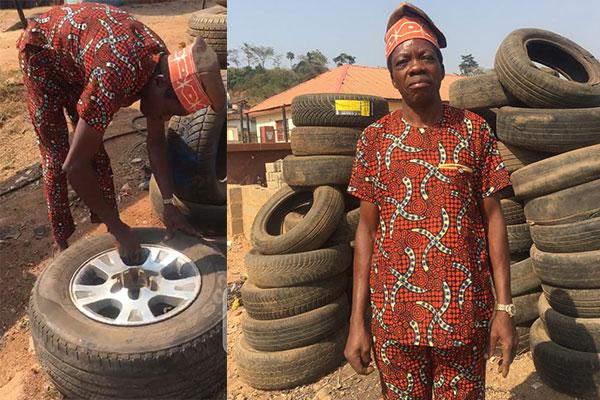 Built 2 Houses, Sent Children To Universities, Corporate Dressed Ado Ekiti-based Vulcanizer Shares His Achievements - autojosh