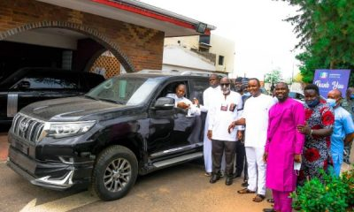 Gov. Akeredolu Presents 2020 Toyota Prado SUV And Hilux Pickup To Ondo Deputy Speaker - autojosh