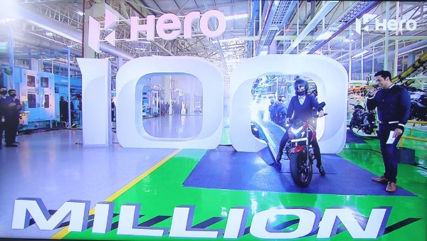 Hero MotoCorp, World's Largest Manufacturer Of Motorcycles And Scooters, Rolls Out 100 Millionth Unit - autojosh
